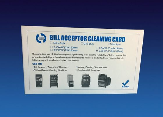 China White Dust Free Bill Acceptor Cleaner Diamond Flocked Cleaning Card Kit supplier