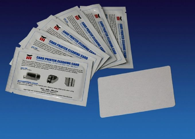 Daily Consumable Fargo Printer Head Cleaning Card CR80 With ISO9001 Certification