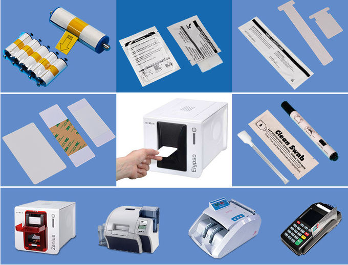 Square Shape Thermal Printer Cleaning Card 3'' * 6'' IPA Pre - Saturated Durable